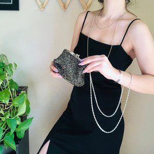 「Vintage」Small Hand Beaded Clutch Purse